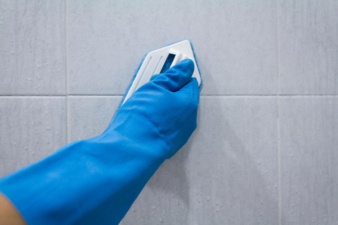 brushing of the tiles